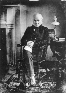 Daguerrotype of John Quincy Adams, first former president to be photographed.