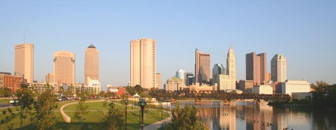 """Columbus-ohio-skyline-panorama"". Licensed under Public Domain via Wikimedia Commons."
