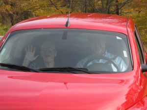 Dad and Me on a ride in Mill Creek Park, Fall 2011