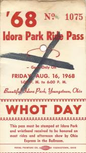 WHOT Days Ticket courtesy of my wife