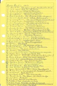 1993 Reading List