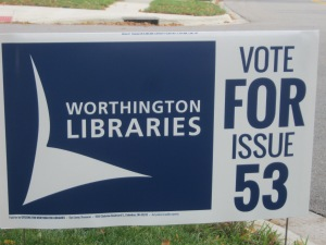 Library Levy sign from November 2013