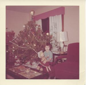 My wife as a child with her Christmas doll