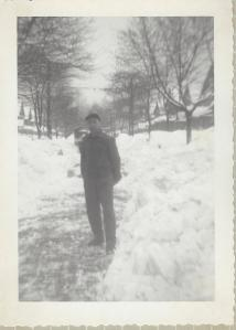 My father-in-law during a big snow storm before we were born (late 40s-early 50s) courtesy Marilyn Trube used with permission