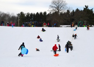 Sled Hill in the Wick Recreation Area, Courtesy of Mill Creek MetroParks. Used by permission.