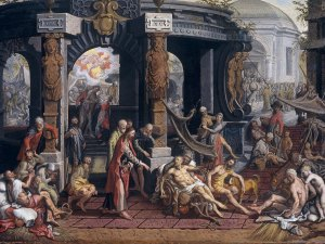 Pieter Aertsen 1507/08 – 1575 The Healing of the Cripple of Bethesda