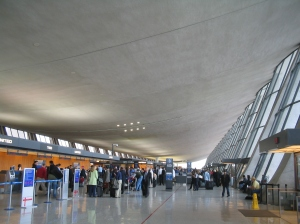"""Washington Dulles International Airport main terminal"". Licensed under CC BY-SA 3.0 via Wikimedia Commons - http://commons.wikimedia.org/wiki/File:Washington_Dulles_International_Airport_main_terminal.jpg#mediaviewer/File:Washington_Dulles_International_Airport_main_terminal.jpg"