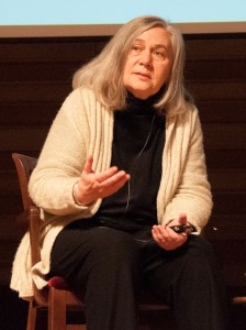 """Marilynne Robinson speaking at the 2012 Festival of Faith and Writing at Calvin College.""""Marilynne Robinson"""" by Christian Scott Heinen Bell - Own work. Licensed under CC0 via Wikimedia Commons."""
