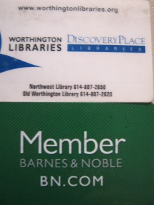 Well-worn library and member cards