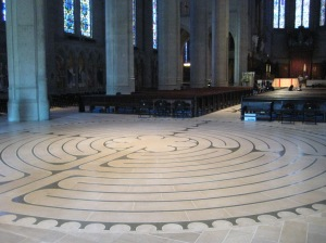 "Labyrinths are often inlaid in the floors of cathedrals. ""Labyrinth"" by Marlith - Own work. Licensed under CC BY-SA 3.0 via Wikimedia Commons."