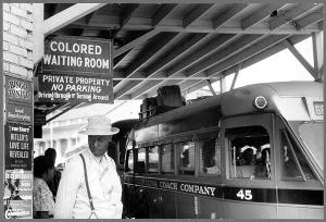 """At the bus station,"" Durham, North Carolina, May 1940. Photo by Jack Delano. Public domain."