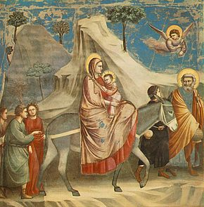The Flight into Egypt by Giotto di Bondone