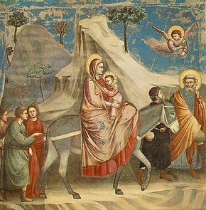 The Flight into Egypt by Giotto di Bondone