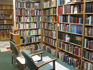 A comfortable nook at Blue Jacket Books in Xenia, Ohio