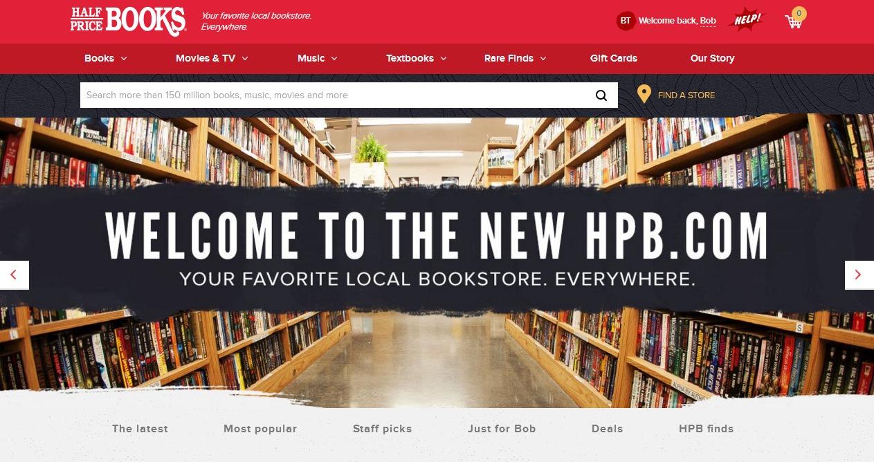 New   Used Books  Textbooks  Music   Movies   Half Price Books