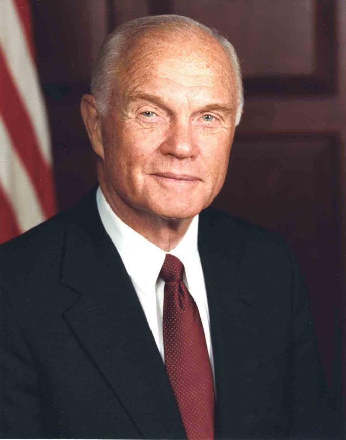 Official U.S. Senate portrait of John Glenn, 1990s.