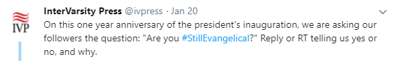 Bob Trube on Twitter Yes I am still evangelical Evangelicals who have become ensnared with the politics of the Left or the Right have left in sacrificing the centrality of Christ …