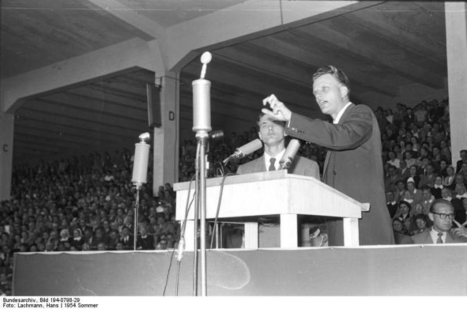 Duisburg, Veranstaltung mit Billy Graham