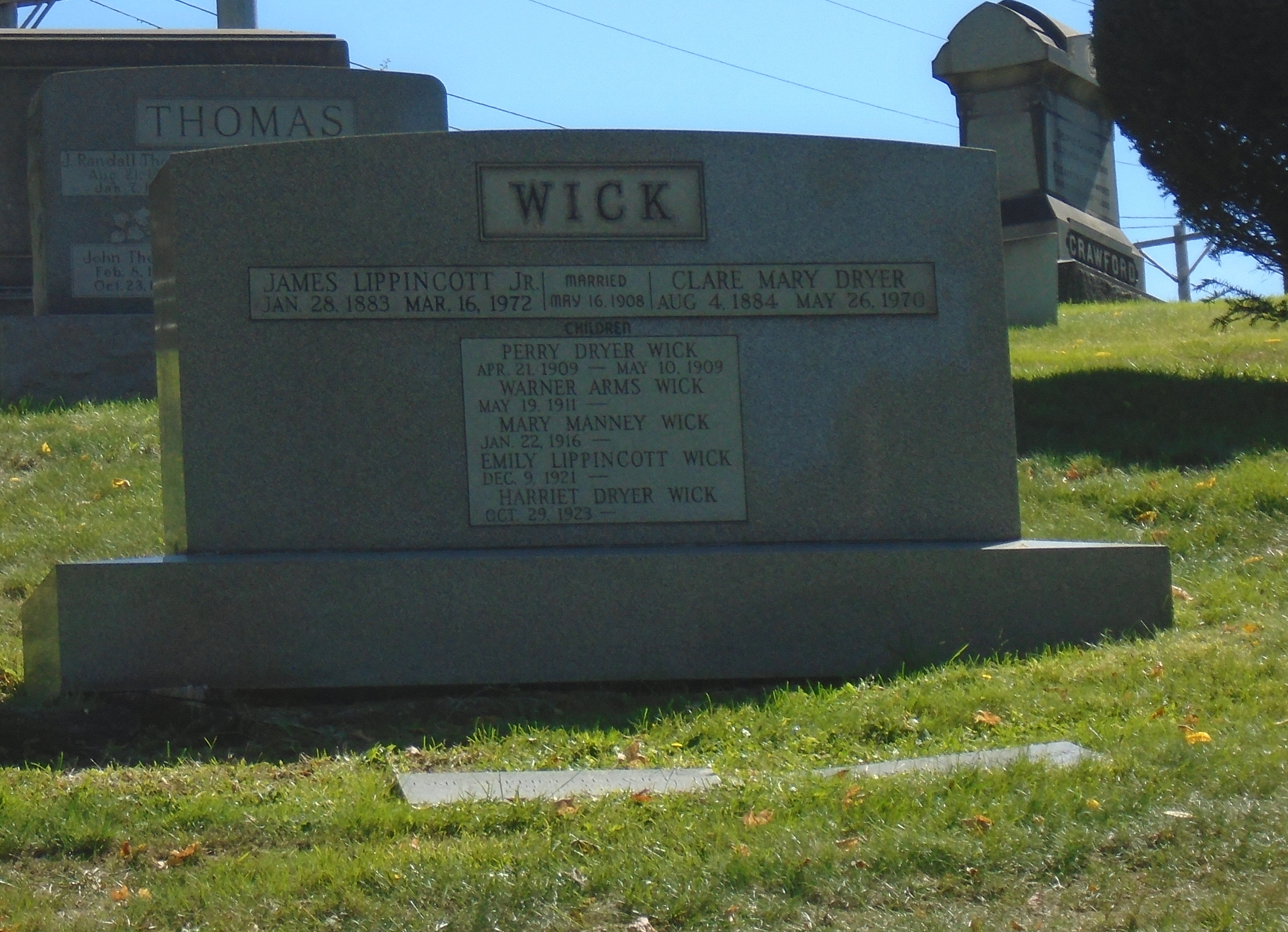 James L Wick Jr grave