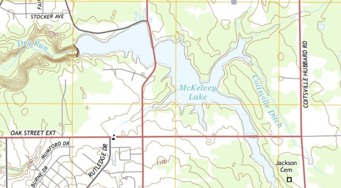 USGS 7 5 minute image map for Campbell Ohio