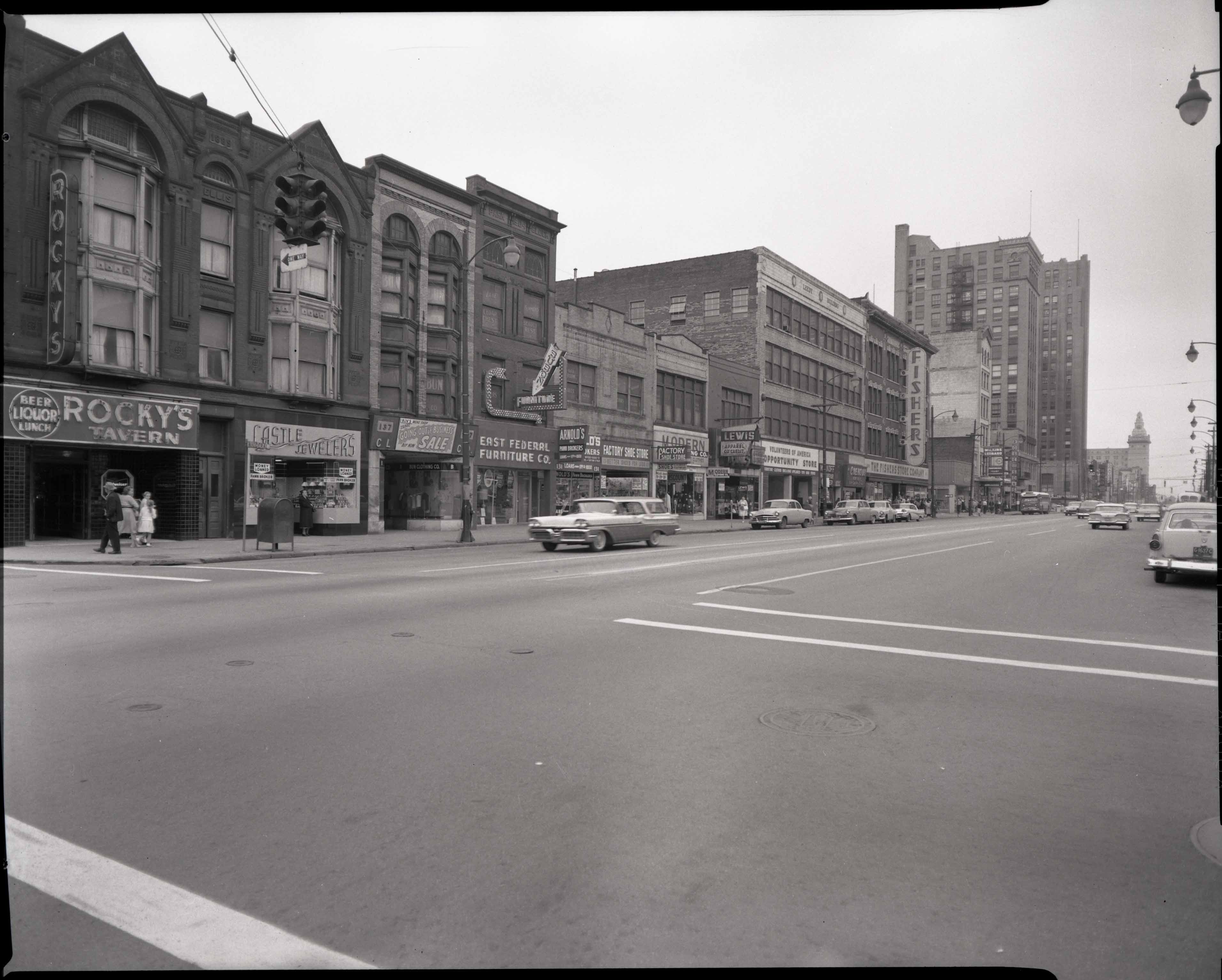 89.119 B1aF325 N. View from Walnut and Federal Streets looking W