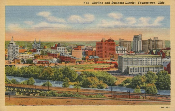 vintage youngstown postcard