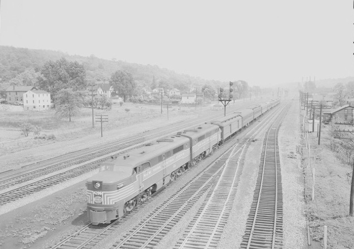 Train Number 85 in Lowellville OH 1949