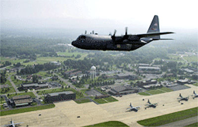 Youngstown_C-130_over_base